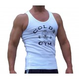 G390 Golds Gym Ribbed Tank Top Old Joe Logo