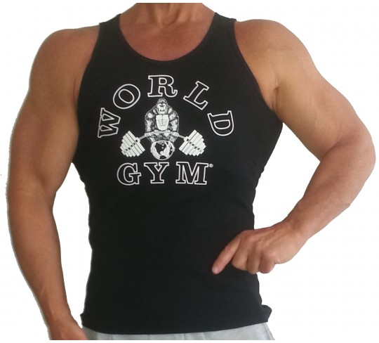 Wife Beater World Gym Muscle Tank